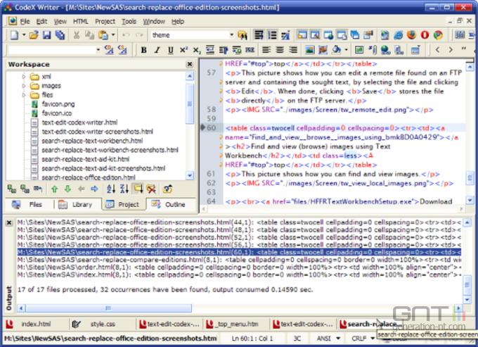 CodeX Writer screen1