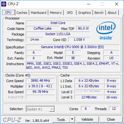 CPU Intel Coffee Lake