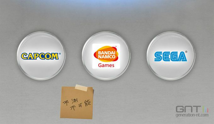 Cross-over Capcom Sega Namco Bandai