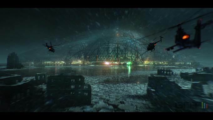 Crysis 3 - Liberty Dome NYC concept art