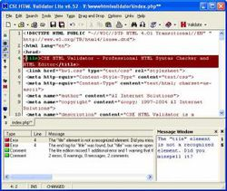 CSE HTML Validator Lite screen1