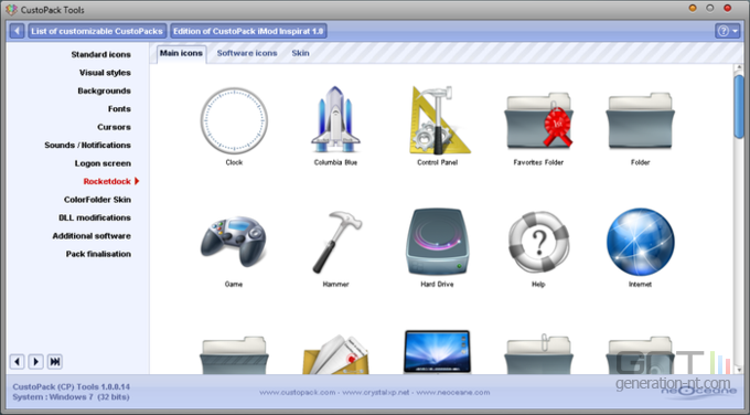 Custopack Tools screen 2