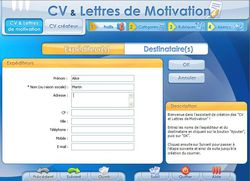 CV et lettres de motivation screen 1