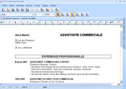 CV et lettres de motivation screen 2