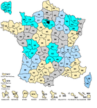 Les départements français : apprendre les départements français simplement
