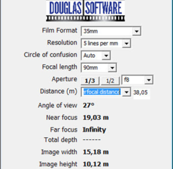 Depth Of Field Calculator screen 2