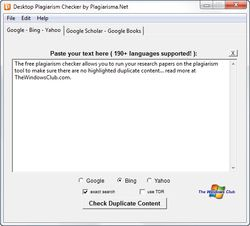 Desktop Plagiarism Checker screen2
