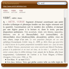 Widget Dictionnaire