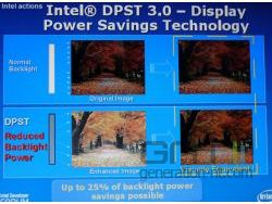 Display power savings small