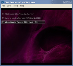 DivX Connected Server screen2