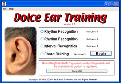 Dolce Ear Training screen