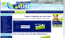 DOM TOM ADSL page accueil