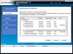 DriveClone Express screen