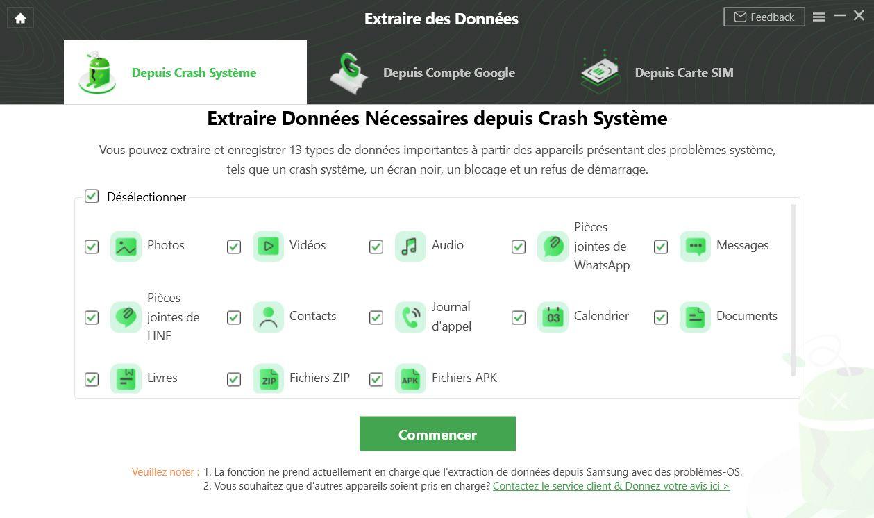 DroidKit iMobie - Extraction données