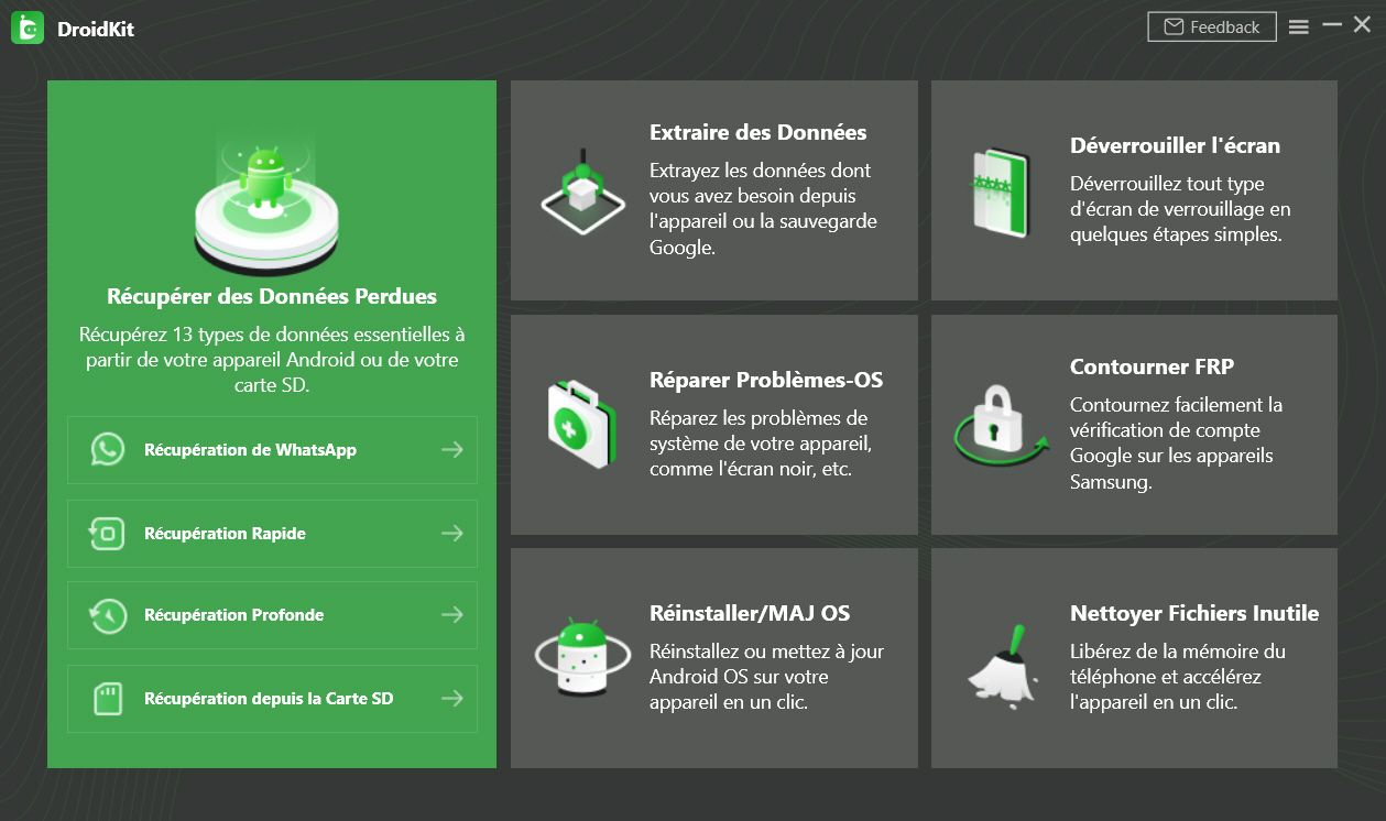 DroidKit iMobie - Interface principale