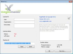 EagleMailer screen 2