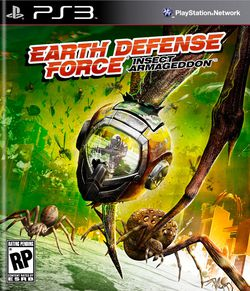Earth Defense Force Insect Armageddon - jaquette US PS3