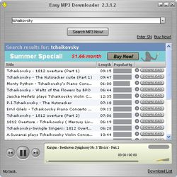 Easy Mp3 Downloader screen 1