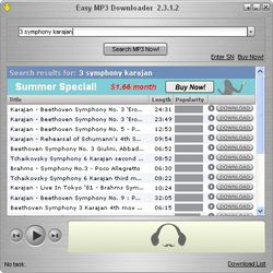 Easy Mp3 Downloader screen 2
