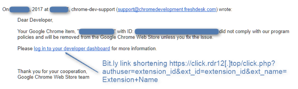 email-phishing-developpeur-extension-chrome