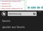 Epingler sites Web Windows Phone (1)