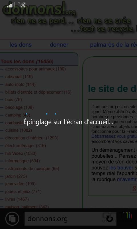 Epingler sites Web Windows Phone (2)