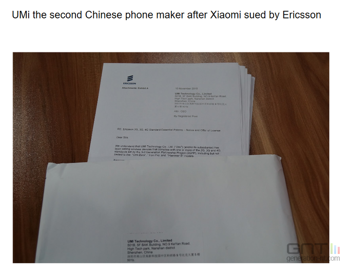 Ericsson vs UMi