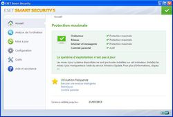 ESET Smart Security v5 screen 1