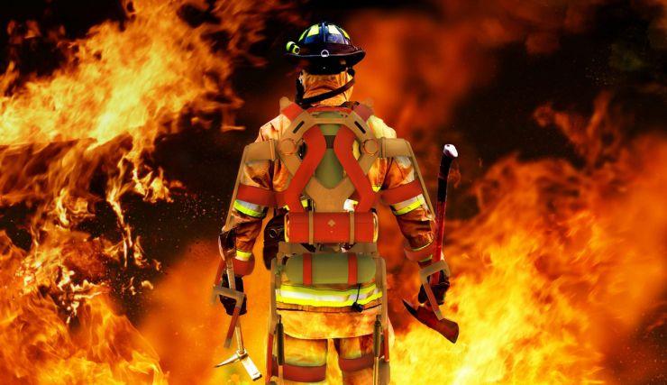 des exosquelettes pour les pompiers