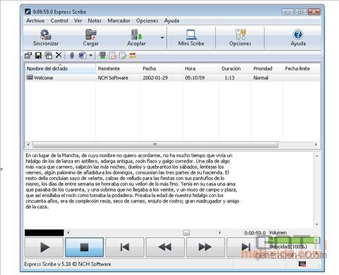 Express Scribe screen1