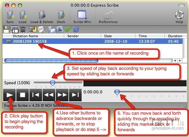 Express Scribe screen2