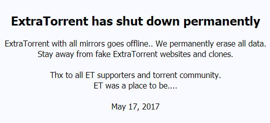 ExtraTorrent-fermeture