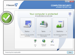 F-Secure Internet Security 2012 screen 1
