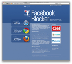 Facebook Blocker pour Chrome screen1