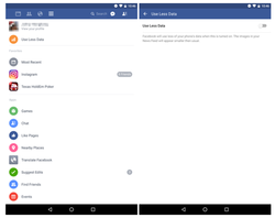 Facebook bouton consommation data mobile
