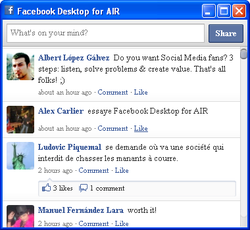 Facebook Desktop for AIR screen2
