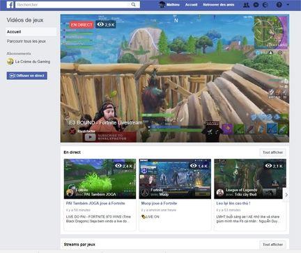 Facebook jeux vidéo