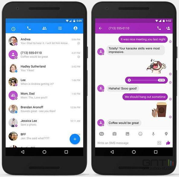 how to stop facebook messenger from sms