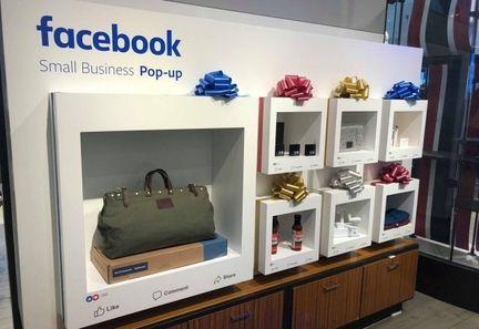 Facebook popup store.