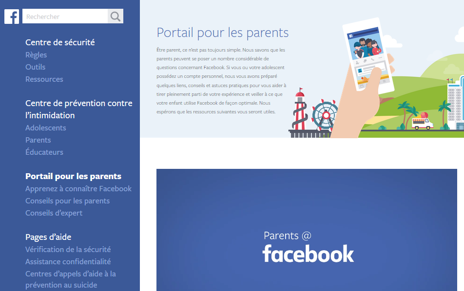 Facebook-portail-parents