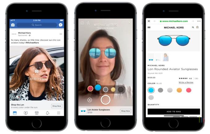 Facebook-pub-realite-augmentee-lunettes-soleil