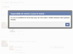 Facebook-publication-impossible