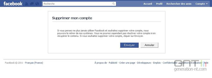 Facebook suppression compte 4