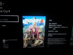 Far Cry 4 Xbox One indisponible