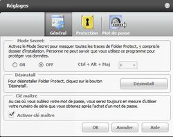 Folder Protect screen 2