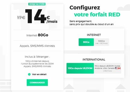 forfait mobile red by sfr 80 Go