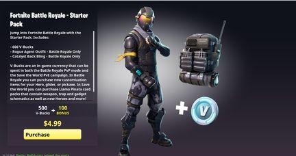 Fortnite starter pack