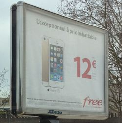 Free campagne publicitaire location smartphone