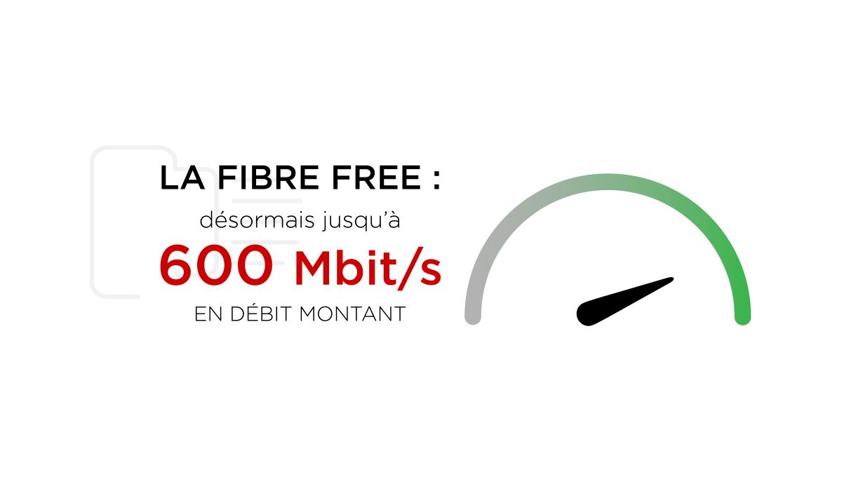 Freebox en fibre optique : Free monte l'upload à 600 Mbit/s