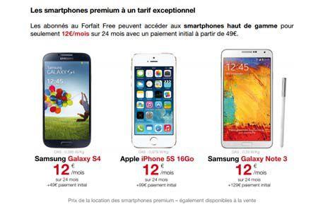 Free mobile offres subventionnées
